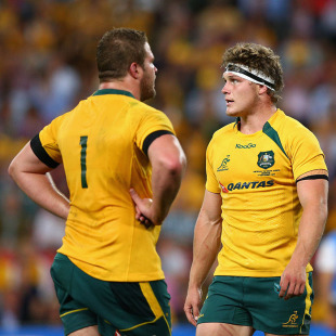 Australia's James Slipper and Michael Hooper reflect on the loss, Australia v South Africa, The Rugby Championship, Suncorp Stadium, Brisbane, September 7, 2013