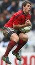 Munster's Ian Keatley claims a high ball