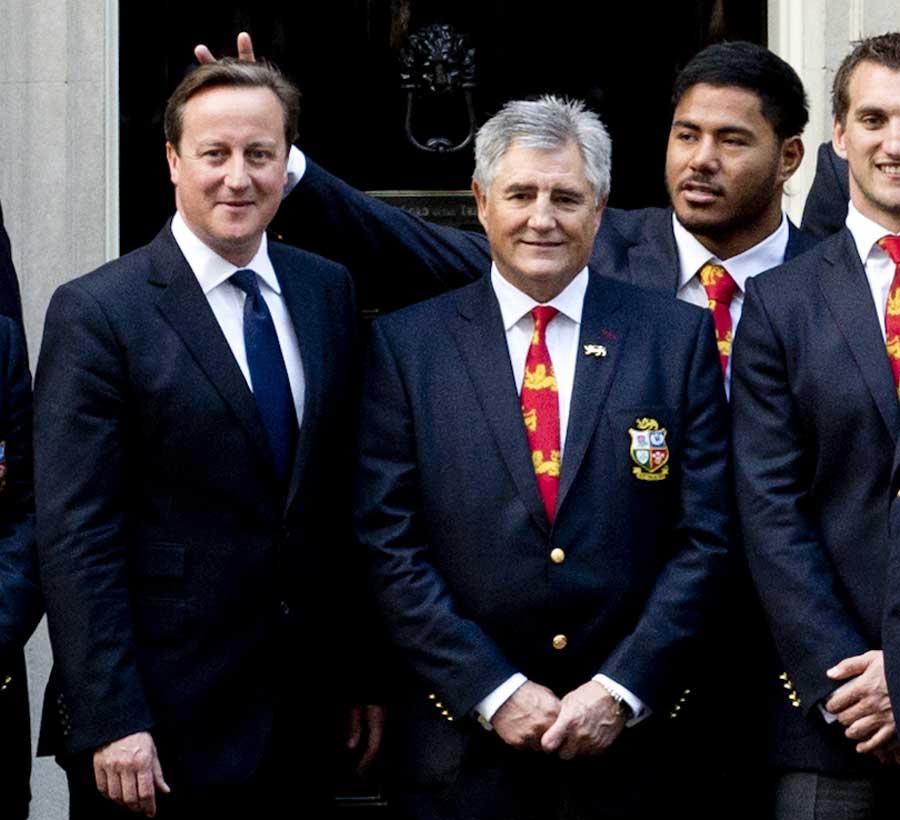 Manu Tuilagi plays a prank on Prime Minister David Cameron