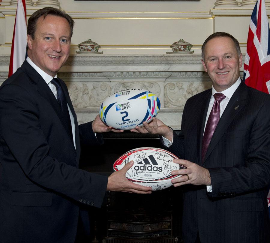 UK Prime Minister David Cameron and New Zealand Prime Minister John Key