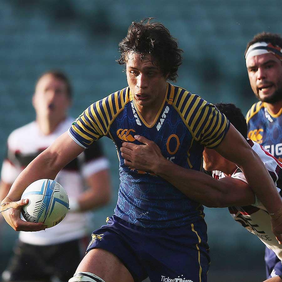 Lee Allan Otagos Lee Allan makes a break Rugby Union Photo ESPN Scrum