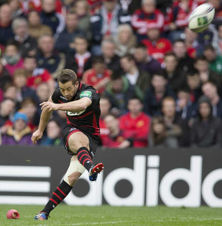 Edinburgh's Greig Laidlaw slots a penalty