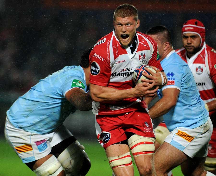 Gloucester's James Hudson calls the shots
