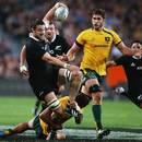 New Zealand's Jeremy Thrush makes a break