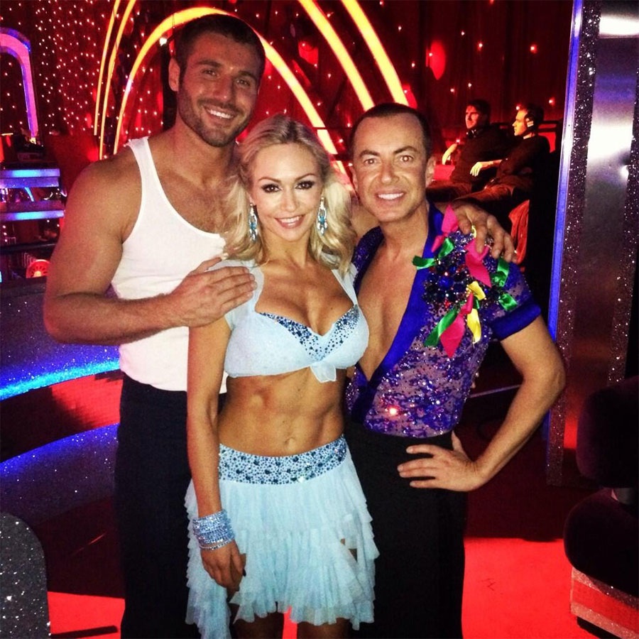 Ben Cohen, Kristina Rihanoff and Julien MacDonald after the third round of <I>Strictly Come Dancing</I>