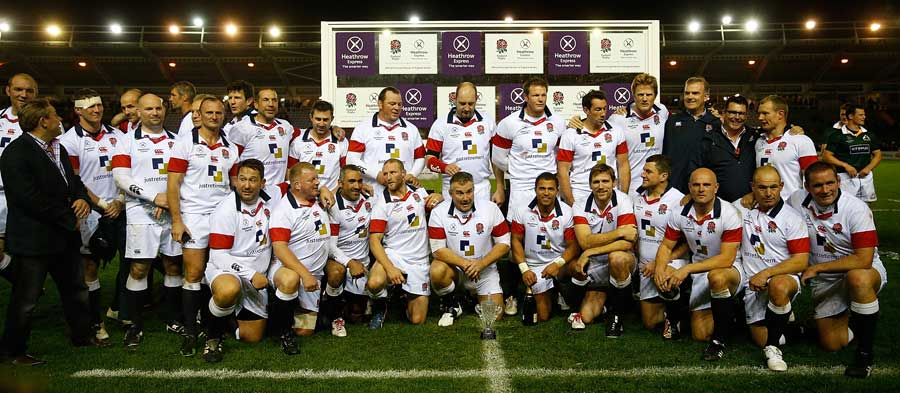 The victorious England legends side