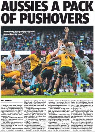 The <I>Daily Telegraph</I> lays into the Australians, November 4, 2013