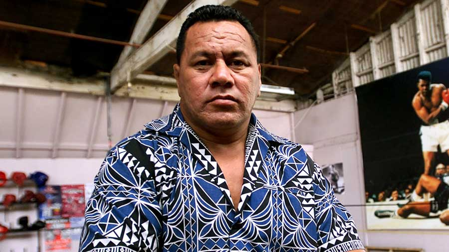Former rugby player Peter Fatialofa at Boxing Central