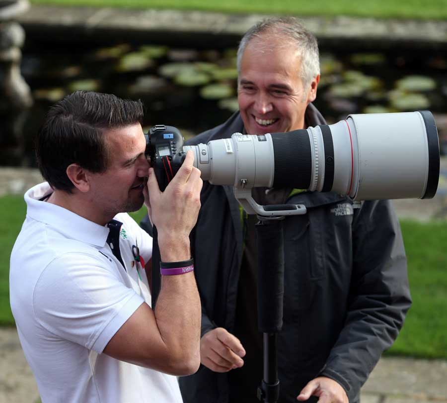 England's Lee Dickson has a bash at photography