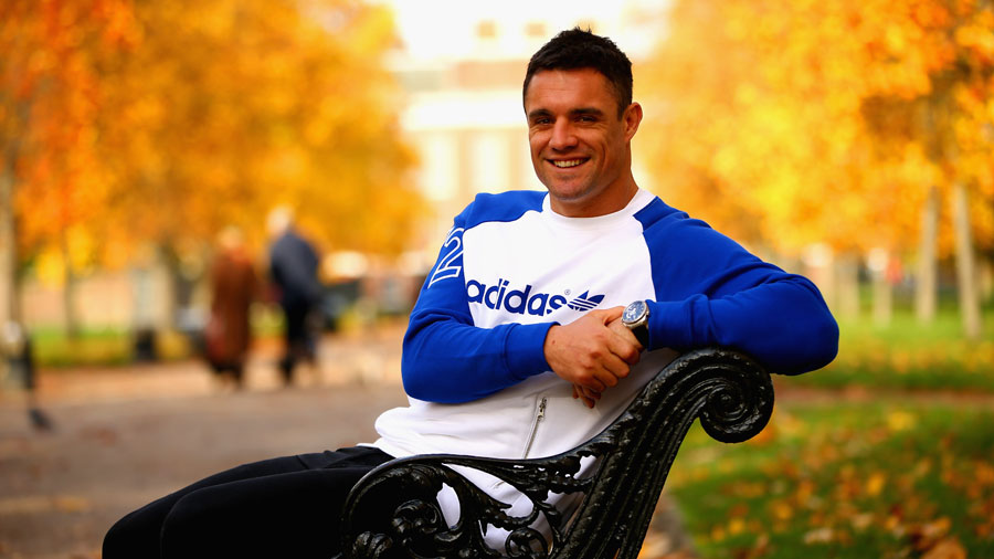 Dan Carter poses during a portrait session in Hyde Park