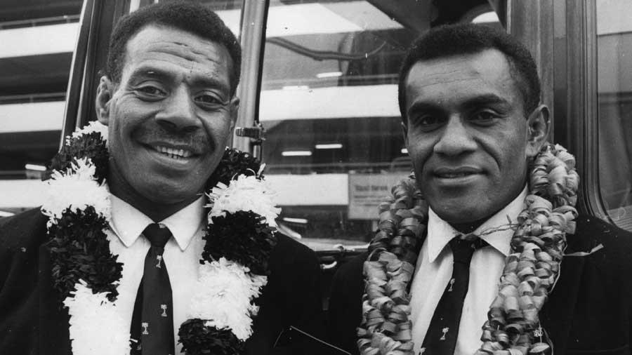 Fiji skipper Sela Toga arrives at Heathrow for their tour of Europe