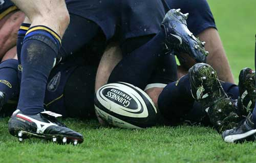 A general view of a ruck during a Guinness Premiership clash