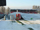 Winter arrives at Oyonnax's Stade Charles-Mathon in France