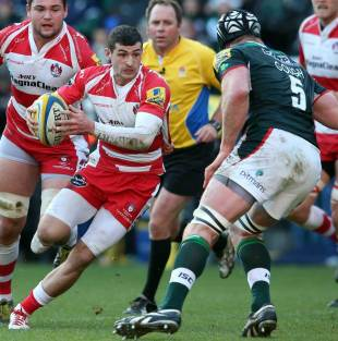 Gloucester's Jonny May takes the game to London Irish, London Irish v Gloucester Rugby, Aviva Premiership, Madejski Stadium, December 29, 2013