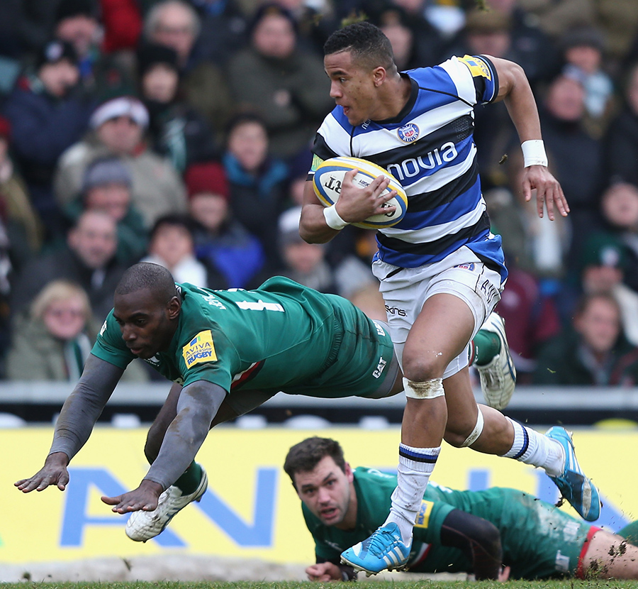 Bath's Anthony Watson Evades The Attention Of Miles