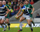 Bath's George Ford looks to spread the ball wide at Welford Road