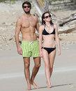 Emma Watson and  Matt Janney on a break in the Caribbean