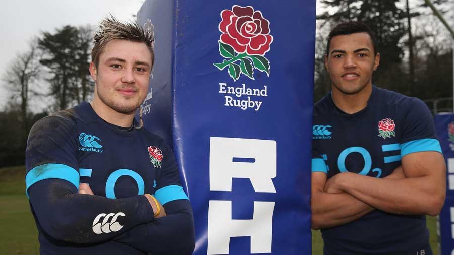 England debutants Jack Nowell and Luther Burrell
