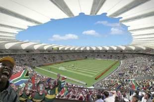 An artist's impression of the Nelson Bay Stadium in Port Elizabeth, Janaury 13, 2009