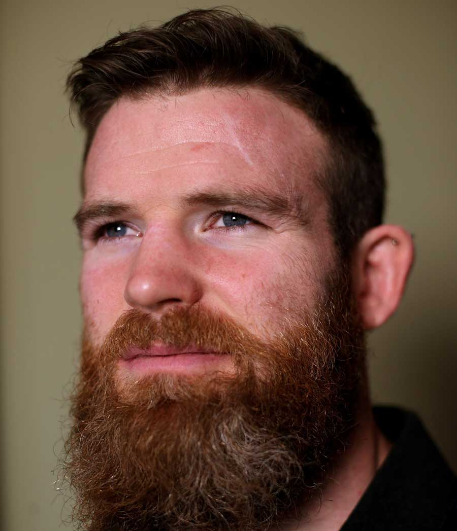 Ireland's Gordon D'Arcy shows off his spectacular beard