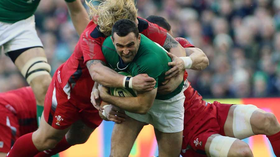 Ireland's Dave Kearney tries to make some yards