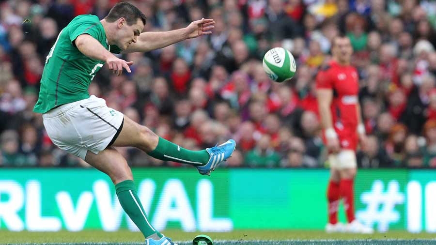 Ireland's Jonathan Sexton goes for the posts