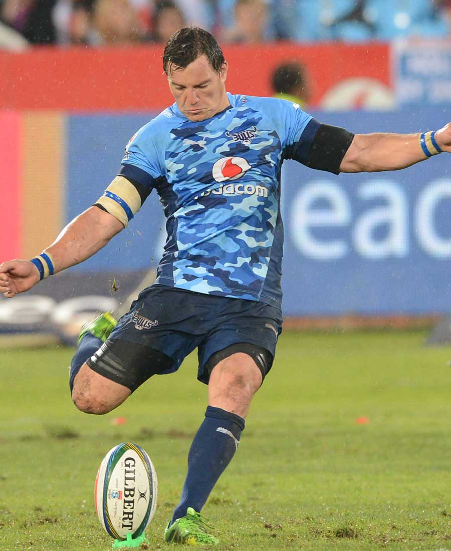 Bulls fly-half Jacques-Louis Potgieter shoots for goal