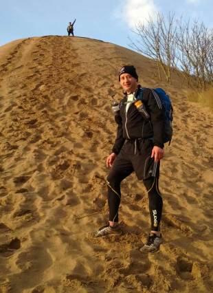 David Barnes prepares for the Marathon des Sables