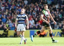 Bath's George Ford looks dejected after missing with a drop goal to level the match against Harlequins