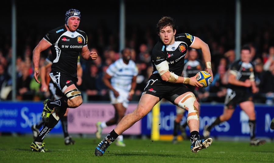 Luke Cowan-Dickie in action for Exeter Chiefs