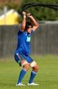 Steven Luatua trains as part of the All Blacks' wider training squad