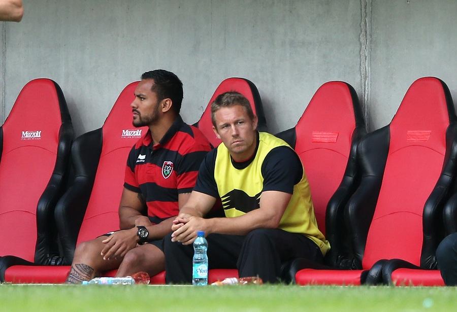 Jonny Wilkinson looks on from the bench
