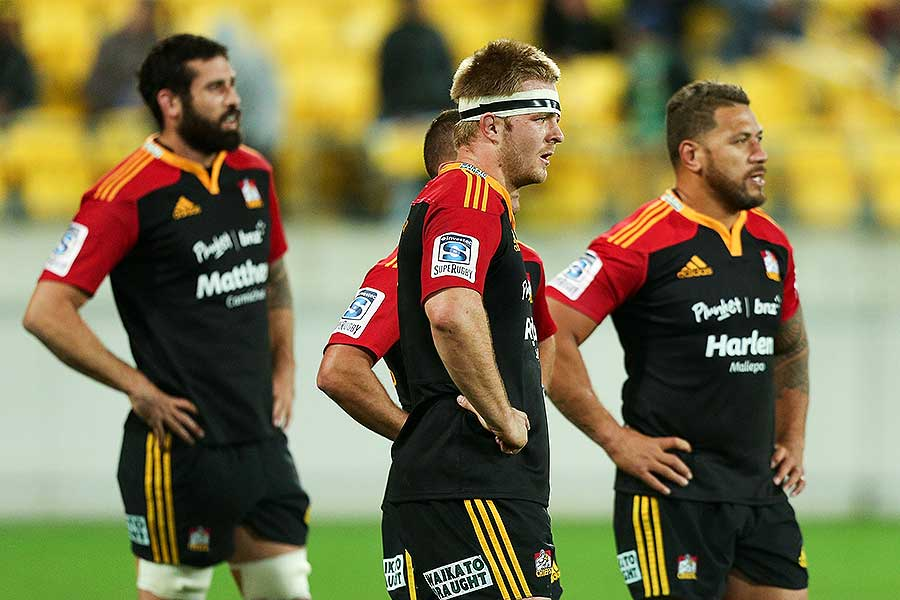 The Chiefs' Sam Cane looks on in disappointment