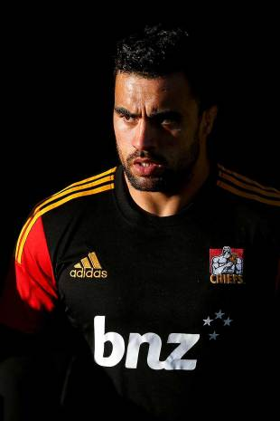 The Chiefs' Liam Messam watches the action, Chiefs v New South Wales Waratahs, Yarrow Stadium, New Plymouth, May 31, 2014