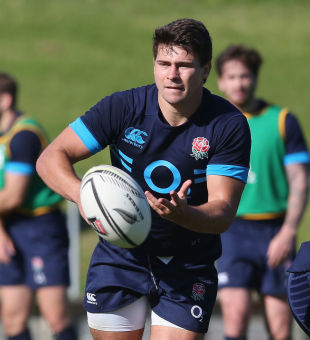 England's Ben Youngs runs the line in training, Takapuna Rugby Club, Auckland, June 5, 2014