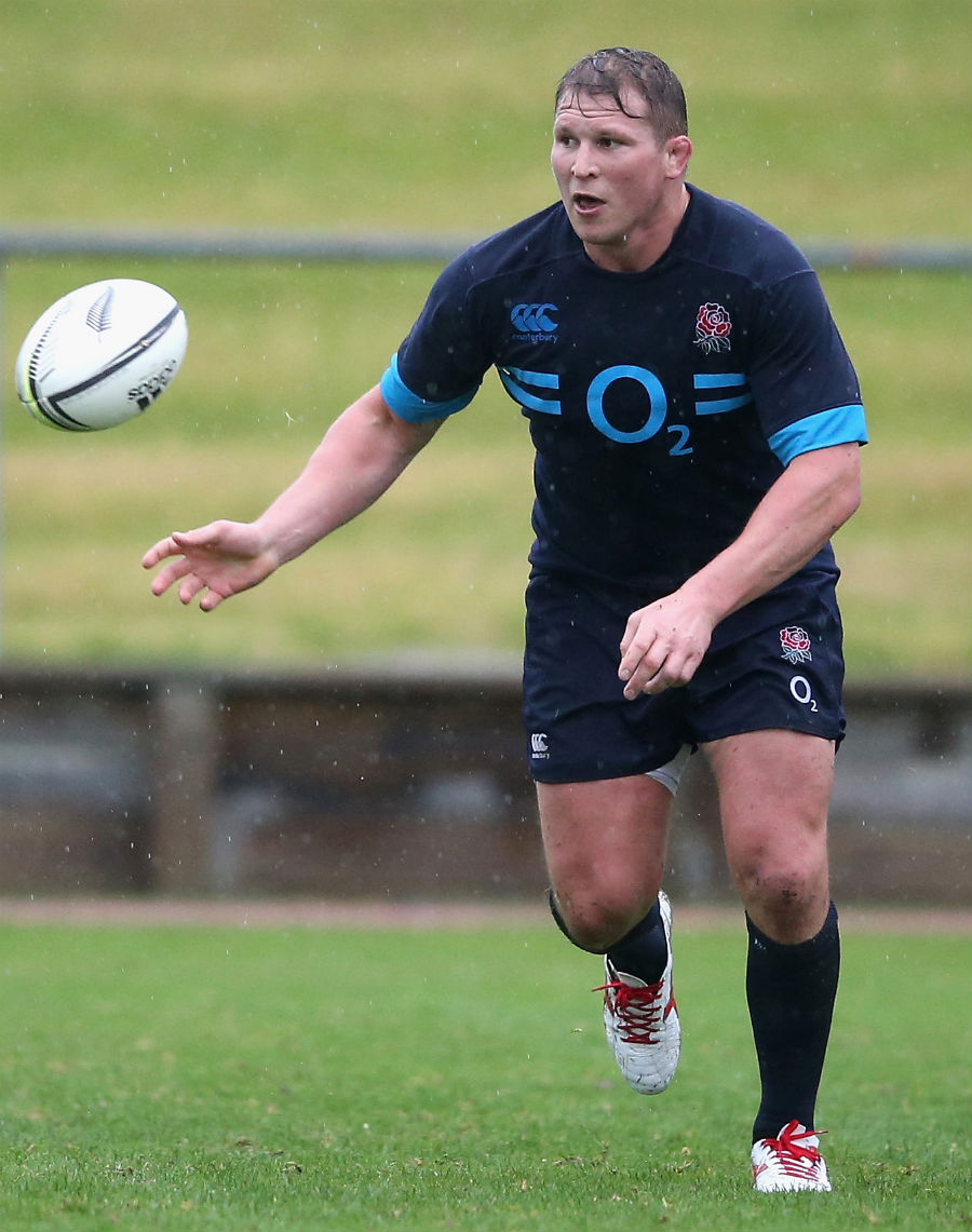 England's Dylan Hartley wings the ball out
