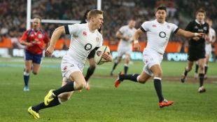 Chris Ashton scores England's last-gasp try, England v New Zealand, 2nd Test, Dunedin, June 14, 2014