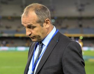 Phillipe Saint-Andre looks dejected at full-time, Australia v France, Allianz Stadium, Sydney, June 21, 2014