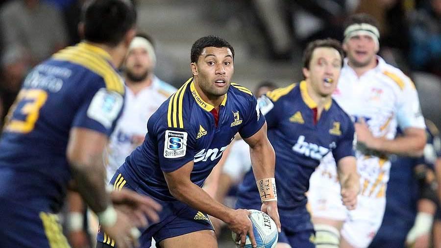 Lima Sopoaga scored 16 of the Highlanders' points, Highlanders v Chiefs, Super Rugby, Forsyth Barr Stadium, Dunedin, June 27, 2014