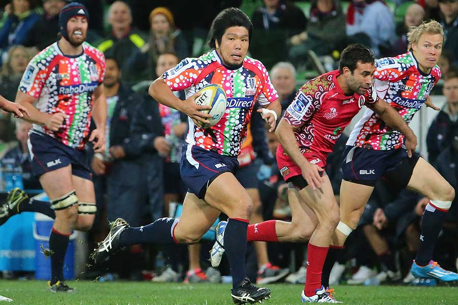 Shota Horie busts through the Reds defence