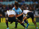 Tevita Kuridrani is knocked unconscious while attempting to tackle Jacques Potgieter