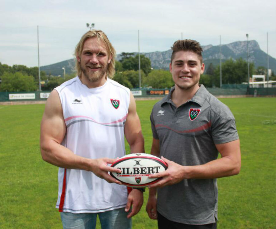 James O'Connor poses on his arrival at Toulon