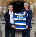 Bath owner Bruce Craig unveils their new sponsor Dyson