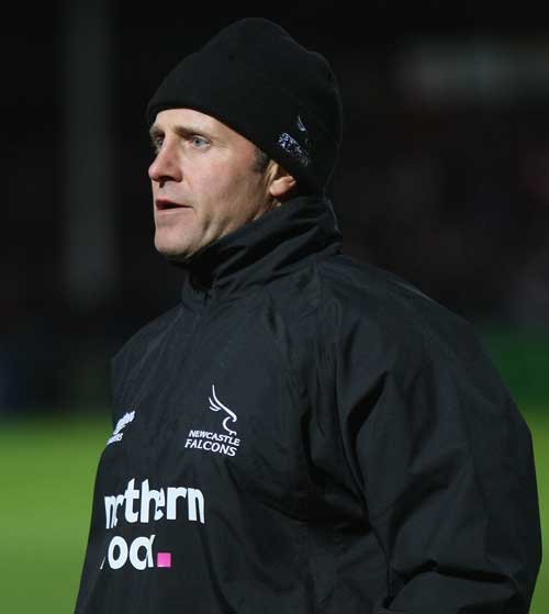 Newcastle assistant coach Alan Tait watches his side in action