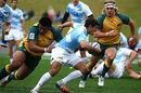 Australia Under-20's Allan Alaalatoa tackles Juan Bernardini