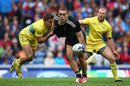 New Zealand's Joe Webber looks to offload