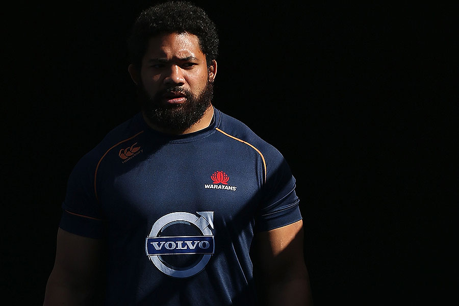 The Waratahs' Tatafu Polota-Nau walks out for the Super Rugby Grand Final Captain's Run