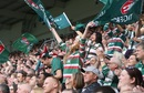 Leicester Tigers fans celebrate a try