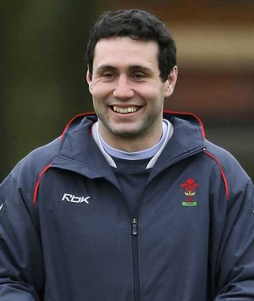 Stephen Jones during Wales training