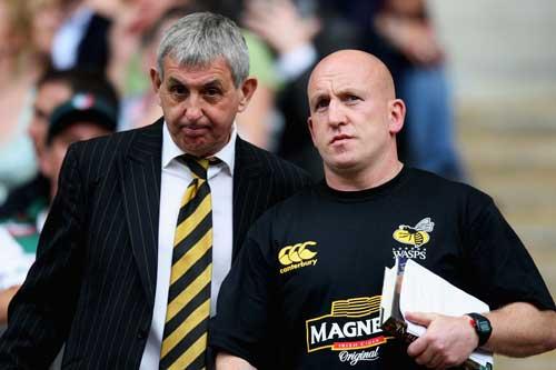 Ian McGeechan and Shaun Edwards during the 2008 Premiership final